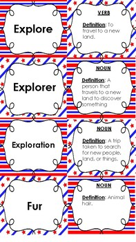 Exploration and Colonization Vocabulary 3-Way Card Sort