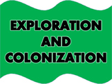 Exploration and Colonization Word Wall