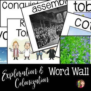 Exploration and Colonization Word Wall Terms