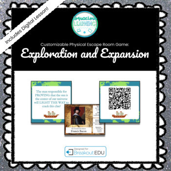 Exploration and Expansion Customizable Escape Room /  Breakout Game