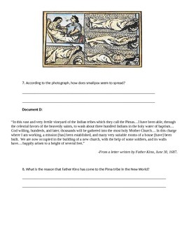 Exploration: the Columbian Exchange Documents and Essay