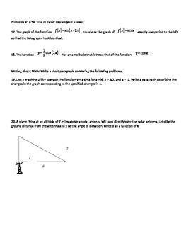 Exploration of Applications of Trigonometric Graphs