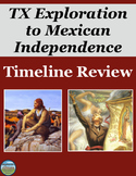 Exploration of Texas and Mexico's Fight for Independence Timeline Review