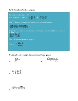Exploratory Activity on Dividing Rational Expressions