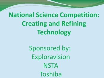 Exploravision Science Competition Powerpoint