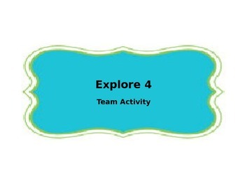 Explore 4 Strategy Template - Accountable Talk Activity