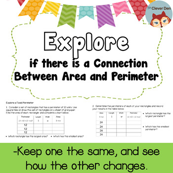Explore Connection Between Area and Perimeter (3.MD.D.8) (4.MD.A.3)