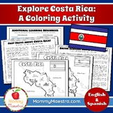Explore Costa Rica: A Country Coloring Activity