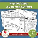 Explore Cuba: A Country Coloring Activity