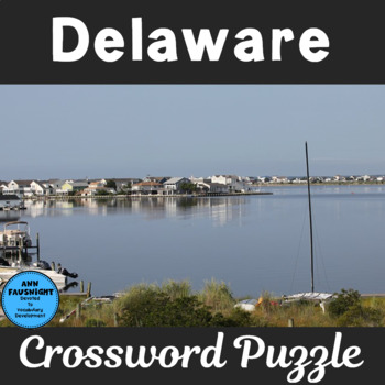 Delaware Crossword Puzzle By Ann Fausnight Teachers Pay Teachers