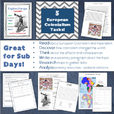 Explore Europe! European Colonialism Lesson and Task Pack - Great for SUB DAYS!