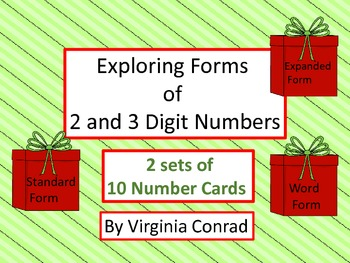 Forms of Numbers Centers---Christmas Theme