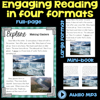 Explore Glaciers - Water on Earth Second Grade Science Stations