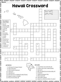 Hawaii Crossword Puzzle