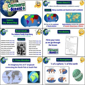 Explore- Introduction to the World Map (Continents and Oceans)