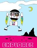 Explore! Kid Astronaut Poster