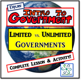 Explain - Limited vs. Unlimited Governments Lesson & Activity
