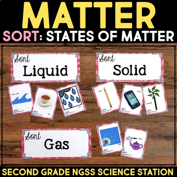 Sort States of Matter - Second Grade Science Stations