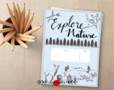 Explore Nature Kids Journal Printable: Camping, Hiking, & Nature Walk