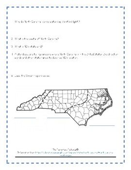 Explore North Carolina ~ Text Comprehension Questions for Nat Geo Kids Webpage