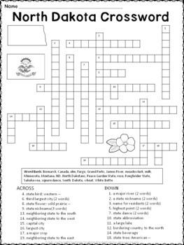 North Dakota Crossword Puzzle