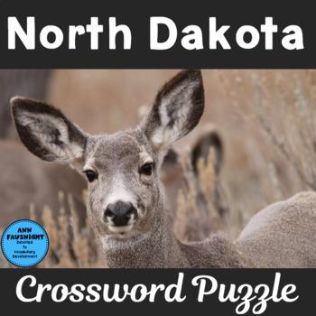Explore North Dakota Crossword Puzzle