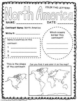 Explore Our World The Continents and Oceans Worksheets