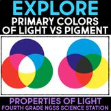 EXPLORE Primary Colors of Light & Pigment - Images & Vision Properties of Light