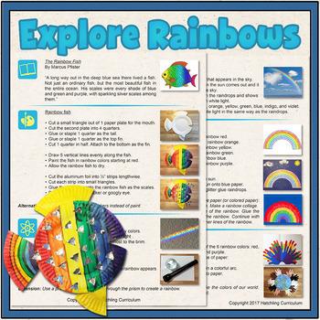 Rainbow Mini-Lesson: Early Physics, Pre-Math, and Art Rainbow Activities