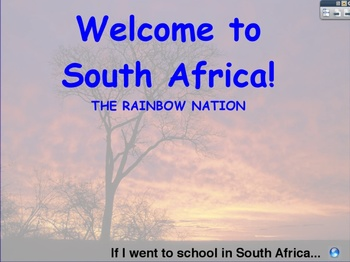 Explore South Africa with your Five Senses (Promethean Flipchart)