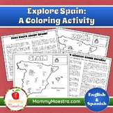 Explore Spain: A Country Coloring Activity