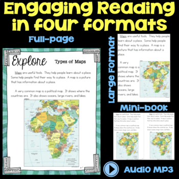Explore Types of Maps - Shape of Our World - Second Grade Science Stations