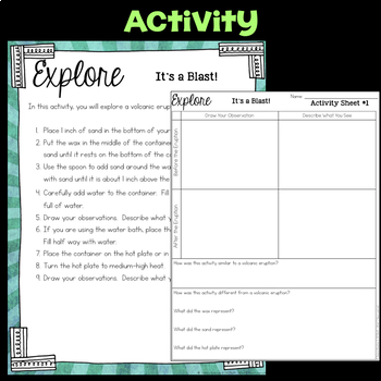 Explore Volcanoes  -  Fourth Grade Science Stations