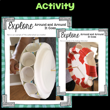 Explore Water Wheels-  Fourth Grade Science Stations