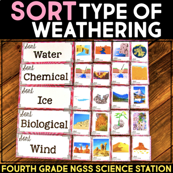 Sort Forces of Weathering -  4th Grade Science Stations