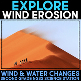 Explore Wind Erosion - Wind and Water Changes - Second Grade Science Stations