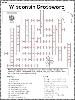Wisconsin Crossword Puzzle