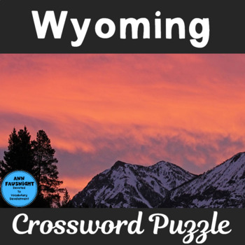 Wyoming Crossword Puzzle