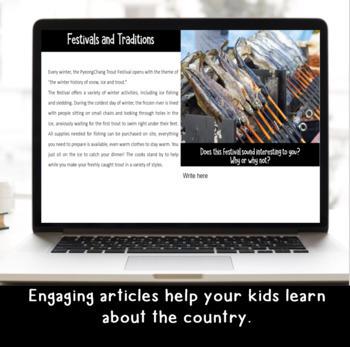 Explore and More DIGITAL South Korea Cultural Exploration for Grades 3-6