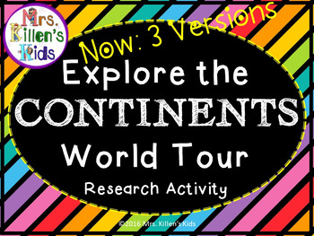 Explore the Continents ~ World Tour ~ Research Activity