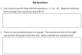 Explore the Effect of a, p and q on a Quadratic Function
