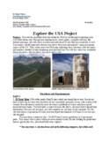 Explore the USA Project (interdisciplinary unit)