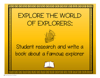 Explore the World of Explorers Book Project