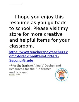 Explore your classroom Scavenger Hunt