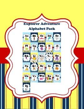 Nautical Adventure Alphabet Cards Set