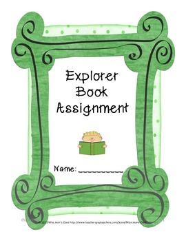 Create an Explorer Book - Research Assignment
