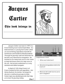 Explorer Book Series - Jacques Cartier