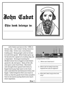 Explorer Book Series - John Cabot