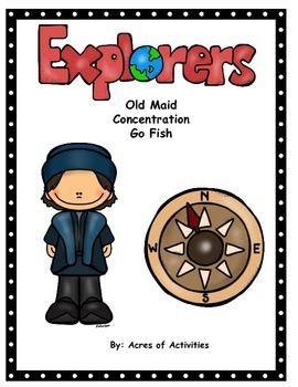 Explorer Card Games:  Go Fish, Old Maid, Conncentration