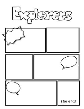 Explorer Comic Book Strip